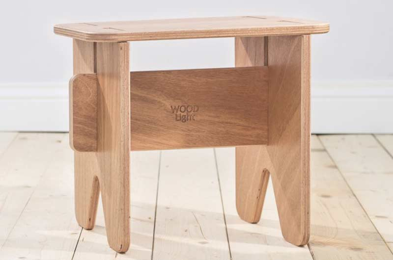 Sgabello in legno woodlight ebanisteria falegnameria trani